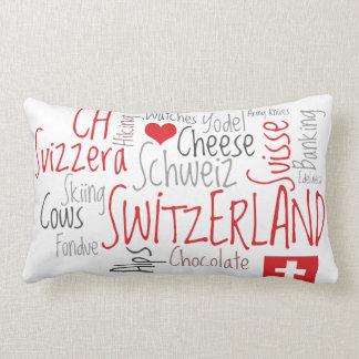 I Love Switzerland Favorite Swiss Things Throw Pillow