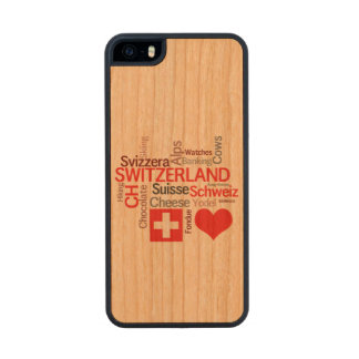 I Love Switzerland - Favorite Swiss Things Carved® Cherry iPhone 5 Slim Case
