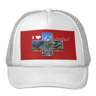 I love Switzerland Mesh Hats