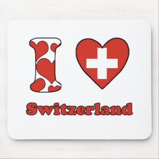 I love Switzerland Mouse Pads