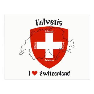 I love Switzerland postcard