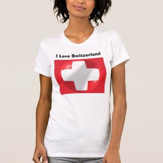 I Love Switzerland Tee Shirt Swiss Flag