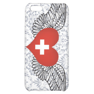 I Love Switzerland -wings Cover For iPhone 5C