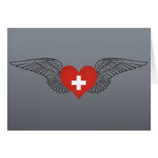 I Love Switzerland -wings Greeting Card