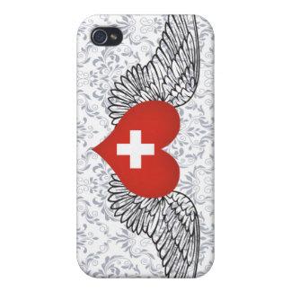 I Love Switzerland -wings iPhone 4/4S Cases