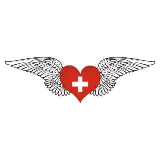 I Love Switzerland -wings Photo Cut Outs