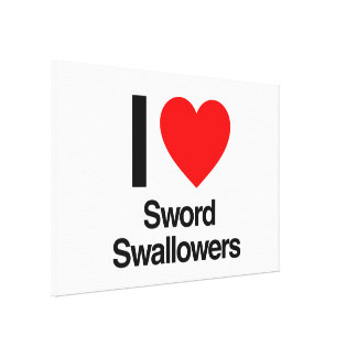 i love sword swallowers canvas print