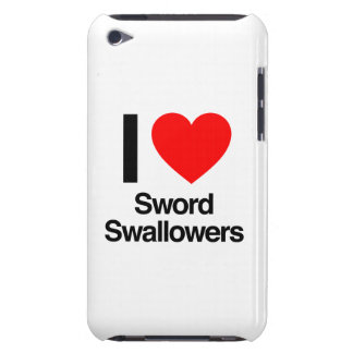 i love sword swallowers iPod touch case