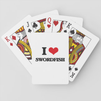 I love Swordfish Playing Cards