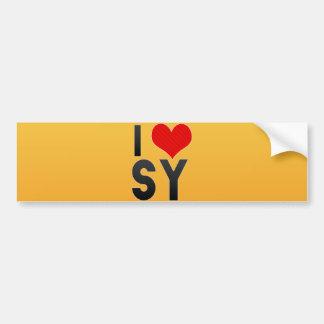 I Love SY Bumper Sticker