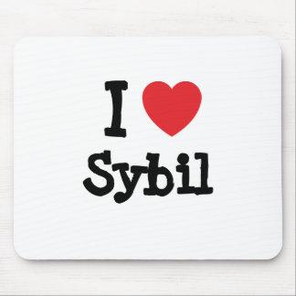 I love Sybil heart T-Shirt Mouse Pad