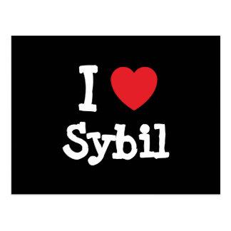 I love Sybil heart T-Shirt Postcard