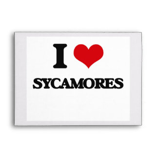 I love Sycamores Envelope