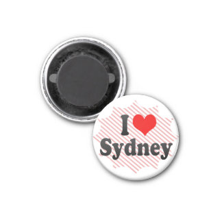 I love Sydney 1 Inch Round Magnet