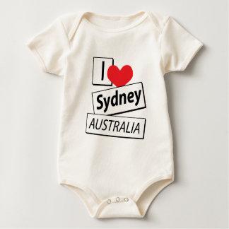 I Love Sydney Australia Baby Bodysuits