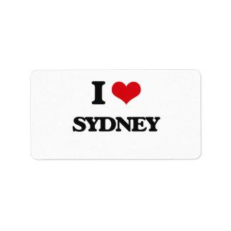 I Love Sydney Address Label