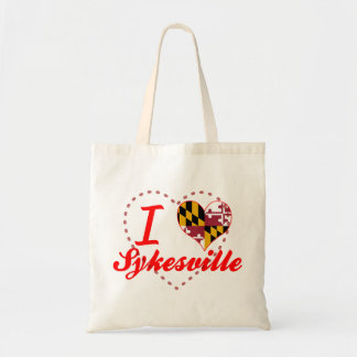 I Love Sykesville, Maryland Tote Bags