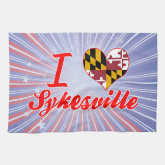I Love Sykesville, Maryland Kitchen Towels