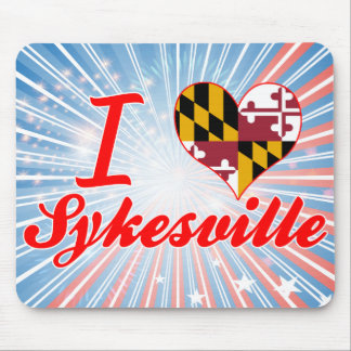 I Love Sykesville, Maryland Mouse Pad