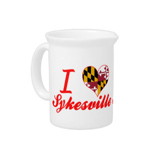 I Love Sykesville, Maryland Drink Pitcher