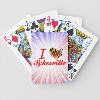 I Love Sykesville, Maryland Bicycle Poker Deck