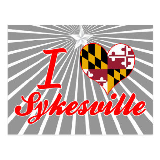 I Love Sykesville, Maryland Post Card