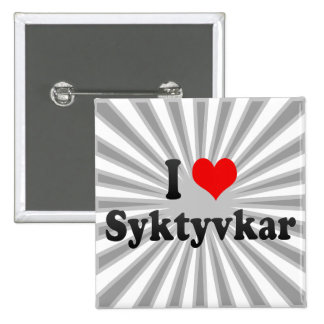 I Love Syktyvkar, Russia Pinback Buttons