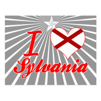 I Love Sylvania, Alabama Post Card