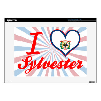 """I Love Sylvester, West Virginia Decal For 15"""" Laptop"""