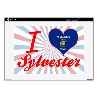 """I Love Sylvester, Wisconsin 15"""" Laptop Decals"""