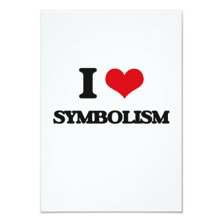 I love Symbolism 3.5x5 Paper Invitation Card