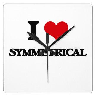 I love Symmetrical Square Wallclocks