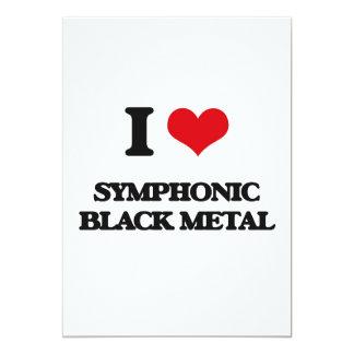 "I Love SYMPHONIC BLACK METAL 5"" X 7"" Invitation Card"