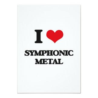 "I Love SYMPHONIC METAL 5"" X 7"" Invitation Card"