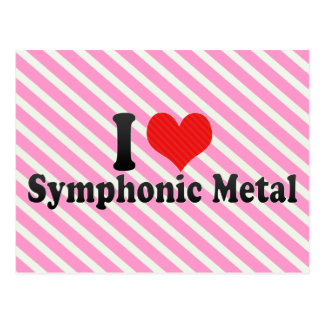 I Love Symphonic Metal Post Card