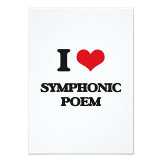 "I Love SYMPHONIC POEM 5"" X 7"" Invitation Card"