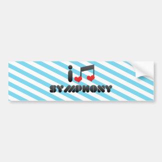 I Love Symphony Car Bumper Sticker
