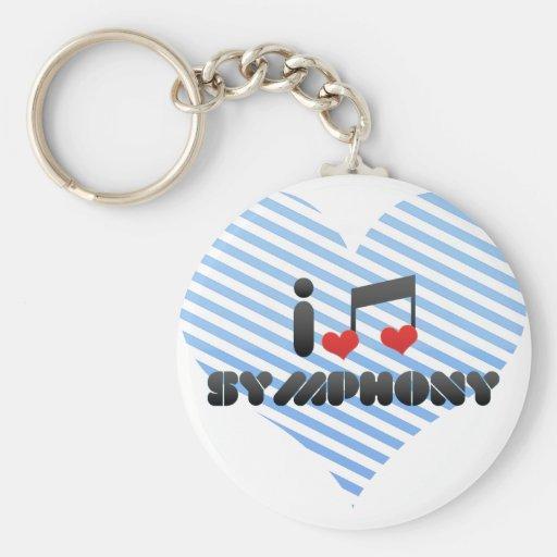 I Love Symphony Keychains