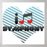 I Love Symphony Posters