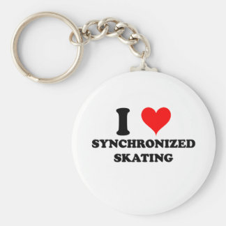 I Love Synchronized Skating Keychain
