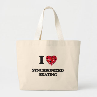 I Love Synchronized Skating Large Tote Bag