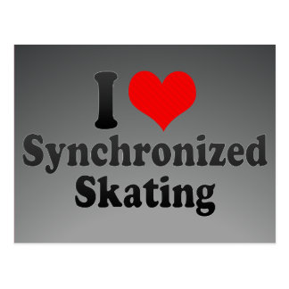 I love Synchronized Skating Postcard