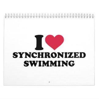 I love Synchronized swimming Calendar