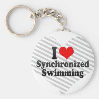 I love Synchronized Swimming Keychain