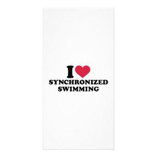 I love Synchronized swimming Photo Card