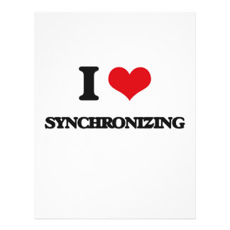 I love Synchronizing Flyer Design