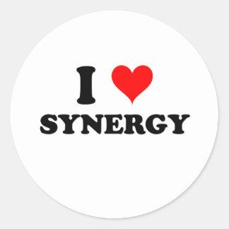 I Love Synergy Classic Round Sticker