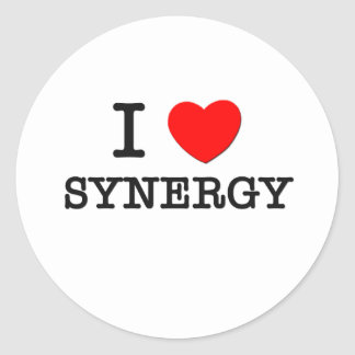 I Love Synergy Round Stickers