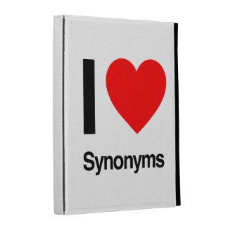 i love synonyms iPad cases