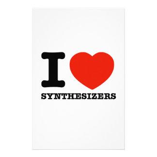 i love synthesizer stationery design